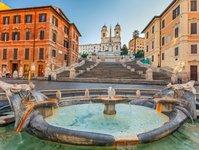 Włochy, Rzym, Schody Hiszpańskie, zakaz turystyka