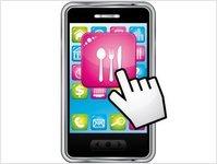 aplikacja, zamówienia, jedzenie, fast food