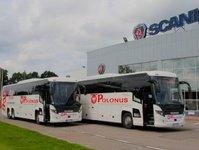 autokar, sprzedaż biletów, przewoźnik autobusowy, pks polonus, scania touring, normy emisji spalin
