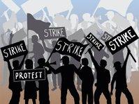 francja, strajk, pracownicy państwowi, rząd