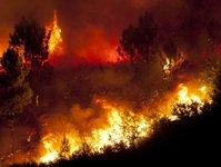 riwiera francuska, pożary, ogień, akcja ratownicza, ewakuacja,