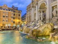 Rzym, Włochy, kary, grzywny, fontanna di Trevi, turyści