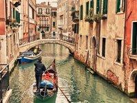 wenecja, gondolier, kurs, gondola, turyści, tradycja, włochy, kursanci, instruktor