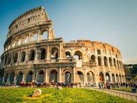 rzym, zamknięte, koloseum, otwarcie, piętro,