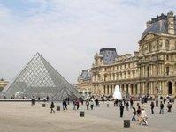 Luwr, muzeum, powódź, paryż, sekwana,