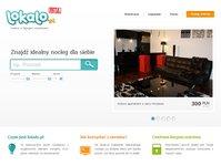 serwis noclegowy Lokalo.pl, Lokalo, wersja, beta, wynajem, mieszkań, pokoi, kwater, krótki, czas, krótkoterminowo, hostele, apartamenty, oferty agroturystyczne, opinie, portal, noclegi