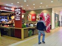 CHI Polska S.A.,  COSTA by coffeeheaven, Tesco Extra, COSTA COFFEE, caffe latté , cappuccuno, slowroasting, styl evolution, krzesło-muszelka, barista, półokrągły fotel