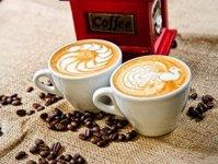 kawa, kawiarnia, badanie, klient, bar,