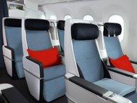 linie lotnicze, przewoźnik lotniczy, air france, kabina, samolot, pasażer