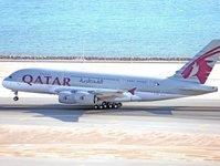 qatar airways, przewoźnik lotniczy, linie lotnicze, samolot, airbus a380