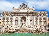 Włochy, Rzym, Fontanna di Trevi, policja, zakaz, daspo