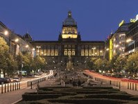 Praga, Muzeum Narodowe, kopuła, wystawa, turystyka