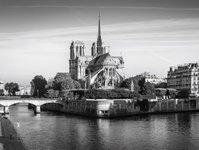 katedra, pożar, Notre Dame, Francja, ogień