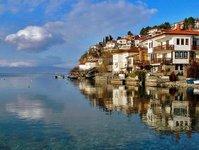 macedonia północna, ochryda, jezioro ochrydzkie, miasto światła, wieczne miasto