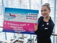 Wizz Air, przewoźnik, trasa, połączenia, Kraków, Gdańsk