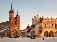 Kraków, konie, dorożka, miasto, upał