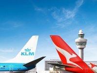 klm, code-share, qantas, linie lotnicze, przewoźnik lotniczy, bilet
